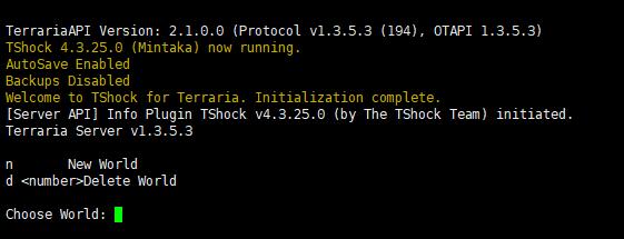 Linux搭建Terraria强制服务端-Tshock - 绾流苏白发